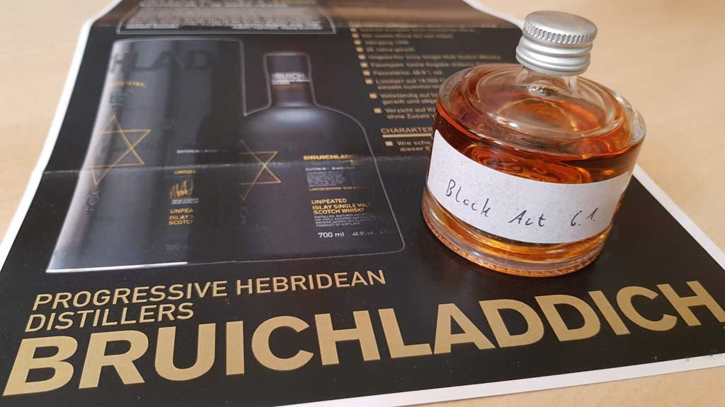 Bruichladdich Black Art 6.01 Sample