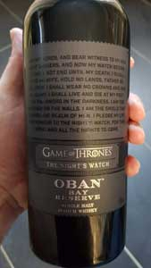 Game of Thrones Whisky Tasting